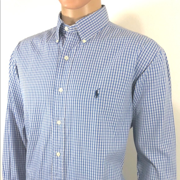 RALPH LAUREN Men\u0027s Shirt sz 161/2 34 Yarmouth Clas